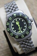 Tag Heuer WA1216 MINT 375.513 Professional Watch Womens Mens MIDSIZE NEON GREEN