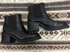 90s Nine West Boot Women's Ankle Platform Chelsea Size 9 Festival Leather VTG