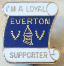 Everton fidèle partisan vintage badge broche épingle en doré 25mm x 27mm