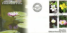 Mauritius 2016 FDC Freshwater Flora 4v Set Cover Sacred Lotus Flowers Stamps