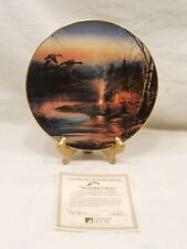 """TWILIGHT FLOW"", COLLECTOR PLATE BY TERRY REDLIN, W/ COA, 1988"