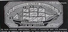 PUBLICITE VINS DE FRANCE OLIVER BANYULS SUR MER VOILIER DE 1932 FRENCH AD PUB