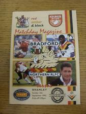 13/09/1992 Rugby League Programme: Bradford Northern v Bramley [Yorkshire Cup].