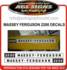 MASSEY FERGUSON 2200 TRACTOR DECAL SET, reprocduction