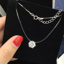 Simple crystal necklace invisible fishing line for necklace zircon clavicle chai