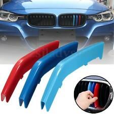 M Color Kidney Grill Grille Decal Strip Clip Bars Covers For BMW 3 Series F30