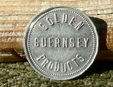 "1900s OKLAHOMA CITY OK ""GOLDEN GUERNSEY PRODUCTS, MEADOW LODGE FARMS""  25C TOKEN"