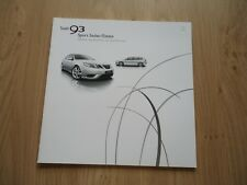 SAAB 93 SPORT SEDAN AND ESTATE BROCHURE / PROSPEKT 2008