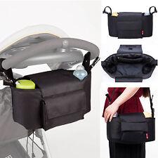 Allis 2in1 Baby Changing Bag Pram Storage Buggy Organizer Black Large Size