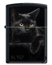 Zippo 5134 black cat black matte full size Lighter