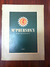 McPherson's Catalogue Sales 1951 Machinery Tools Engineers Pumps Bolts Nut Rivet