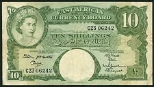 East Africa Currency Board  10 Shillings ND(1958-1963) P42b  Fine