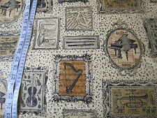 Musical Instruments & Notes on Ivory Fabric - 100% cotton fabric per Fat Quarter