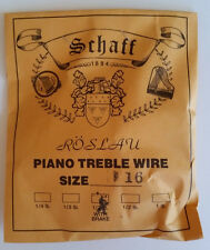 Schaff Roslau Piano Music Treble Wire Size 16 .037 1/3 Lb Coil 91' w Brake