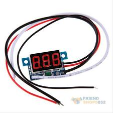 DC 0 To 999mA Red LED Panel Meter Mini Digital Ammeter 3-30V Amp Wire Lead Cord