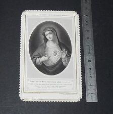 CHROMO 1880-1890 IMAGE PIEUSE CATHOLICISME HOLY CARD CANIVET DOUX COEUR DE MARIE
