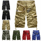 New Casual Mens Army Cargo Combat Camo Camouflage Overall Short Sports 3/4 Pants