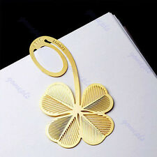 New Four-leaf Clover Reading Metal Clip Bookmark Gift Book Mark For Kids