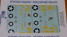 Microscale Decal 1:72 Scale #72-890 / Boeing B-17F Flying Fortresses: 358th &