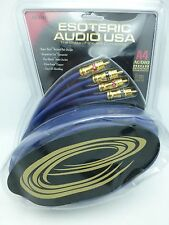 Esoteric Audio A4 RCA Audio Interconnect Cables 8 meter Pair