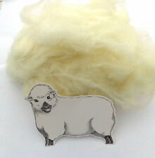 SOFT NATURAL WHITE CORE WOOL / NEEDLE FELTING WOOL FOR FAST, FIRM FELTING 100g