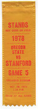 1978 College Football Ribbon Stanford University vs Oregon State