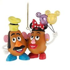 Disney Parks MR. AND MRS. POTATO HEAD CHRISTMAS HOLIDAY ORNAMENT NEW WITH TAG