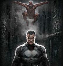 NEW Sideshow MARVEL KNIGHTS Punisher and Daredevil Art Print