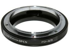 Adapter per montare obiettivi Canon FD su corpi Olympus 4/3. Adattatore.