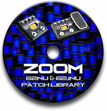 ZOOM G2Nu & G2.1Nu PATCH LIBRARY CD GUITAR EFFECTS PEDALS