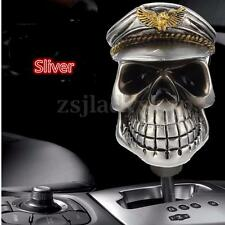 Silver Skull Head Universal Car Truck Manual Stick Gear Shift Knob Lever Shifter