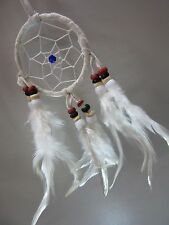 Soft Leather Native American 6 cm Car Dream Catcher 26 cm Length Coconut Beads