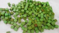 "150 VINTAGE APPLE GREEN BAKELITE TESTED BLANK DICE 1 LB 453.5 GRAMS 1/2"" SQ"
