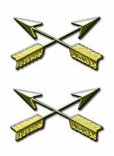 US Officer Uniform Special Forces Collar Rank Insignia Army Unit Company Arrow X
