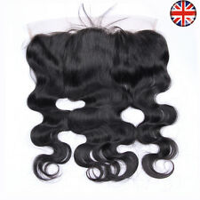 "12"" Virgin Brazilian Human Hair 13X4"" Lace Frontal Closure Free Part Body Wave"