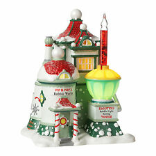 Dept 56 North Pole Village Series Pip & Pop's Bubble Works 4025280 NEW Lights Up