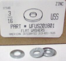 "3/16 USS Flat Washers Steel Zinc Plated, 1/4""IDx9/16""OD Nominal (200)"