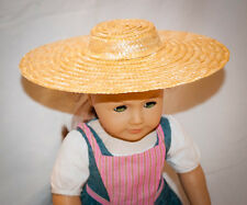 """American Girl Felicity sized DIY Colonial Low Crowned Straw Hat for 18"""" Doll"""