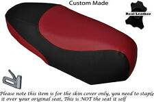 BLACK & DARK RED CUSTOM FITS BENELLI VELVET 125 UP TO 08 DUAL SEAT COVER
