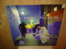 "CRAIG DAVID fill me in -12"" MAXI 45T"