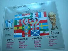 Fußball Weltmeisterschaft 1978  aus Borek ABO: PARAGUAY Luxus Block Nr +Aufdruck