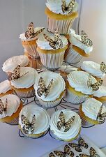 24 Leopard Print Butterflies Edible Cupcake Toppers Birthday Cake Decorations
