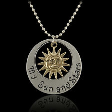 "Movie Vintage""Game of Thrones""Khal & Khaleesi Moon of My Life Pendants Necklace"
