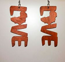 Love Wooden Drop Letter Earrings Jewellery- Christmas Gift Stocking Filler