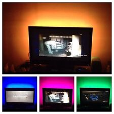 "Led Tv Back lights Multi Color RGB Accent Lighting Kit For 75"" Tv RF"