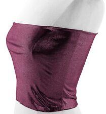VON VONNI Women's Violet Metallic Transformer Tube Top One Size $80 NWT