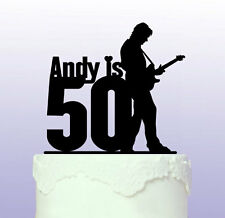 Personalised 50th Guitarist Cake Topper