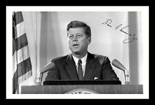 JOHN F KENNEDY JFK AUTOGRAPHED SIGNED & FRAMED PP POSTER PHOTO