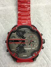 Diesel DZ7370 MR Daddy Red Multiple Time Chronograph Red Silicone Men's Watch