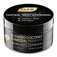 FLAIR Naturals Activated Coconut Charcoal Powder for Teeth Whitening - 30 Grams